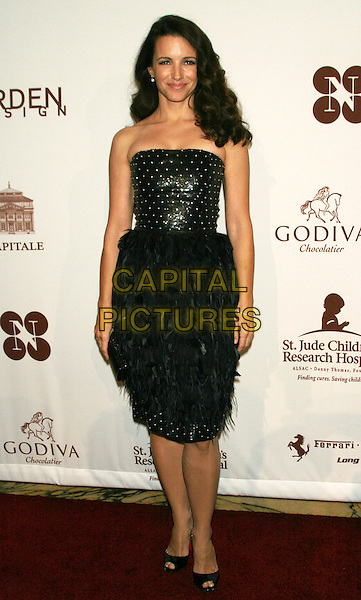 "KRISTIN DAVIS.""Chocolat au Vin"" - A Deliciously Decadent Evening of Dancing, Desserts & Dreams to Benefit the St. Jude Children's Research Hospital at Capitale, New York, NY, USA..May 28th, 2009.full length black strapless beads beaded dress feathers  peep toe shoes  .CAP/LNC/TOM.©TOM/LNC/Capital Pictures."