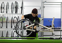 Pictured: Matt Steele on the assembly line Monday 15 August 2016<br />