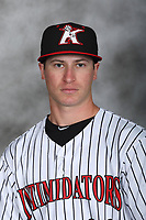 Kannapolis Intimidators pitcher Alex Katz (20) poses for a photo at Kannapolis Intimidators Stadium on April 5, 2017 in Kannapolis, North Carolina.  (Brian Westerholt/Four Seam Images)