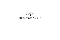 Passport - 10 March 2016
