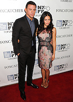 NEW YORK CITY, NY, USA - OCTOBER 10: Channing Tatum, Jenna Dewan arrive at the 52nd New York Film Festival - 'Foxcatcher' Premiere held at Alice Tully Hall on October 10, 2014 in New York City, New York, United States. (Photo by Celebrity Monitor)