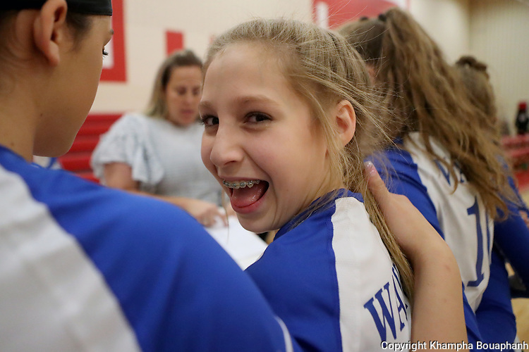 Wayside plays Ed Wilkie in middle school volleyball on Thursday, October 5, 2017. (photo by Khampha Bouaphanh)