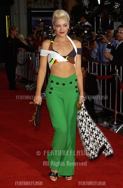Pop star GWEN STEFANI at the Hollywood premiere of Anchorman..June 28, 2004