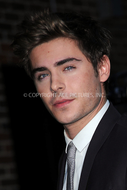 WWW.ACEPIXS.COM . . . . . ....November 24 2009, New York City....Actor Zac Efron made an appearance at 'The Late Show with David Letterman' on November 24 2009 in New York City....Please byline: KRISTIN CALLAHAN - ACEPIXS.COM.. . . . . . ..Ace Pictures, Inc:  ..tel: (212) 243 8787 or (646) 769 0430..e-mail: info@acepixs.com..web: http://www.acepixs.com