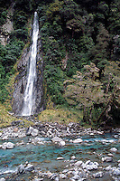 Thunder Creek Falls, Mt Aspiring NP, South Island, New Zealand