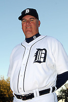 Feb 21, 2009; Lakeland, FL, USA; The Detroit Tigers coach Rick Knapp (52) during photoday at Tigertown. Mandatory Credit: Tomasso De Rosa/ Four Seam Images