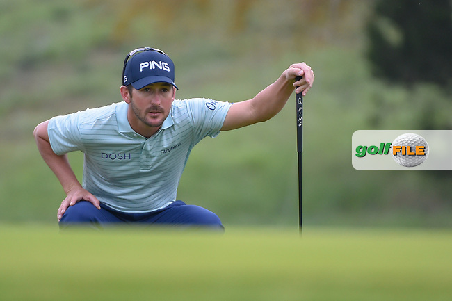 Andrew Landry (USA) lines up his birdie attempt on 10 during day 1 of the Valero Texas Open, at the TPC San Antonio Oaks Course, San Antonio, Texas, USA. 4/4/2019.<br /> Picture: Golffile | Ken Murray<br /> <br /> <br /> All photo usage must carry mandatory copyright credit (© Golffile | Ken Murray)
