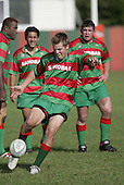 Waiuku firstfive S Kennedy kicks for touch.Counties Manukau Premier Club Rugby, Waiuku vs Patumahoe played at Rugby Park, Waiuku on the 8th of April 2006. Waiuku won 18 - 15