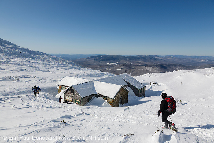 Appalachian Trail - Madison Spring Hut during the winter months in the White Mountains, New Hampshire USA.