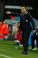 Vincenzo Montella  in action during the Italian Serie A soccer match between SSC Napoli and AC Fiorentina   at San Paolo stadium in Naples, March 22 , 2014