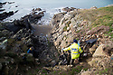 19/01/19<br /> <br /> Plastic embedded on the cliff face.<br /> <br /> <br /> Volunteers clean beaches near Cable Bay Anglesey to mark the RSPCA's 'PlastOff2019'<br /> <br /> All Rights Reserved, F Stop Press Ltd +44 (0)7765 242650  www.fstoppress.com rod@fstoppress.com