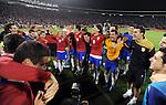 FUDBAL, BEOGRAD, 10.10.2009. -   Radost fudbalera Srbije nakon plasmana na Svetsko prvenstvo. Fudbalska reprezentacija Srbije u pretposlednjem kolu kvalifikacija za Svetsko prvenstvo 2010. godine u Juznoj Africi pobedila je Rumuniju rezultatom 5:0. Foto: Nenad Negovanovic - Sportska centrala