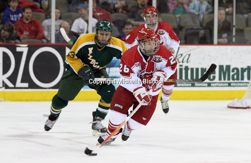 Nebraska-Omaha's Brent Kisio. Nebraska-Omaha beat Northern Michigan 6-1 at the Qwest Center in Omaha on Jan. 27, 2007. (Photo by Michelle Bishop)