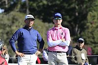 Chez Reavie and Kevin Streelman (USA) on the 6th tee during Sunday's Final Round of the 2018 AT&amp;T Pebble Beach Pro-Am, held on Pebble Beach Golf Course, Monterey,  California, USA. 11th February 2018.<br /> Picture: Eoin Clarke | Golffile<br /> <br /> <br /> All photos usage must carry mandatory copyright credit (&copy; Golffile | Eoin Clarke)