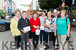 Collectors l-r Pamela Walsh, Colin Murphy, Sheila Than, Alice Fitzgerald, Mary Murphy, Kay Fleming, Les Nolan and Bridie Murphy pictured at 'Busking for Charity' at the Market Cross Killarney last Monday where all the proceedings from the event will go to MS South Kerry Branch and Killarney Community Services.
