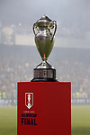 KANSAS CITY, KS - SEPTEMBER 20: The championship trophy on a pedestal on the field before the game. Sporting Kansas City hosted the New York Red Bulls on September 20, 2017 at Children's Mercy Park in Kansas City, KS in the 2017 Lamar Hunt U.S. Open Cup Final. Sporting Kansas City won the match 2-1.