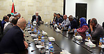 Palestinian Prime Minister Rami Hamdallah meets with a delegation from Jenin governorate, at his office in the West Bank city of Ramallah on August 2, 2017. Photo by Prime Minister Office