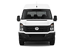 Car photography straight front view of a 2014 Volkswagen CRAFTER 2.0TDI 4 Door Cargo Van Front View