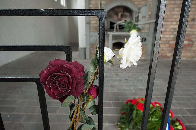 Feielichkeit zum 69. Jahrestag der Befreiung des Frauenkonzentrationslager Ravensbrueck.<br />Am Sonntag den 4. Mai 2014 fand die im ehemaligen Frauenkonzentrationslager Ravensbrueck die Feierlichkeiten zum 69. Jahrestag der Befreiung statt.<br />In Ravensbrueck war von 1938 bis 1945 ein Konzentrationlager fuer Frauen in der brandenburgischen Kleinstadt Fuerstenberg. Im Mai 1945 wurde es von russischen Soldaten befreit.<br />Zu den Feierlichkeiten kamen ueberlebende Frauen aus ganz Europa, die meissten von ihnen aus Polen.<br />Im Bild: Einehemaliger Verbrennungsofen.<br />4.5.2014, Ravensbrueck/Fuerstenberg<br />Copyright: Christian-Ditsch.de<br />[Inhaltsveraendernde Manipulation des Fotos nur nach ausdruecklicher Genehmigung des Fotografen. Vereinbarungen ueber Abtretung von Persoenlichkeitsrechten/Model Release der abgebildeten Person/Personen liegen nicht vor. NO MODEL RELEASE! Don't publish without copyright Christian-Ditsch.de, Veroeffentlichung nur mit Fotografennennung, sowie gegen Honorar, MwSt. und Beleg. Konto: I N G - D i B a, IBAN DE58500105175400192269, BIC INGDDEFFXXX, Kontakt: post@christian-ditsch.de]