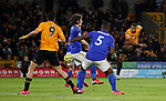 Adama Traore of Wolverhampton Wanderers takes a shot during the Premier League match at Molineux, Wolverhampton. Picture date: 14th February 2020. Picture credit should read: Darren Staples/Sportimage