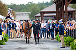 Stefano Brecciaroli and Byrnesgrove First Diamond. ITA. Eventing. Team and individual Horse Inspection before dressage. Day 2. World Equestrian Games. WEG 2018 Tryon. North Carolina. USA. 12/09/2018. ~ MANDATORY Credit Elli Birch/Sportinpictures - NO UNAUTHORISED USE - 07837 394578