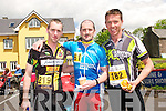Ronan O'Shea (Valentia), Kevin Murphy (Killarney) and Stephen Tabb (Cobh) at the Dingle Adventure Race on Saturday.