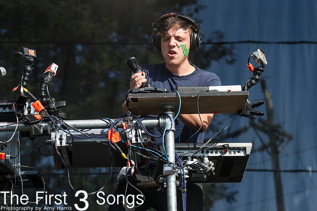 Robert Delong performs at the 2nd Annual BottleRock Napa Festival at Napa Valley Expo in Napa, California.