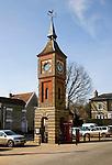 Victorian Clock tower 1864 in Market Place, Bildeston, Suffolk, England