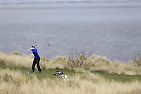 Sean Flanagan (Co Sligo) during the first round of matchplay at the 2018 West of Ireland, in Co Sligo Golf Club, Rosses Point, Sligo, Co Sligo, Ireland. 01/04/2018.<br /> Picture: Golffile | Fran Caffrey<br /> <br /> <br /> All photo usage must carry mandatory copyright credit (&copy; Golffile | Fran Caffrey)