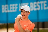 Amstelveen, Netherlands, 22 Augustus, 2020, National Tennis Center, NTC, NKR, National  Wheelchair Tennis Championships, Junior Boys single:  Maarten ter Hofte (NED) celebrates<br /> Photo: Henk Koster/tennisimages.com
