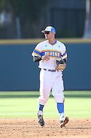 Kevin Kramer (7) of the UCLA Bruins in the field during a game against the Oregon State Beavers at Jackie Robinson Stadium on April 4, 2015 in Los Angeles, California. UCLA defeated Oregon State, 10-5. (Larry Goren/Four Seam Images)