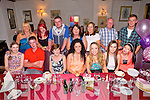 Sinead Boyle from Ballyard celebrating her 21st Birthday with family and friends at Cassidy's on Saturday.  Front left to right, Tina Fitzgerald, Patrick Hayes, Loretta Sheehy, Ciara Sheehy, Sinead Boyle, Vicky Nolan, Elizabeth Hayes.  Back left to right, Ann Hayes, Sarah Flynn, Robert Moore, Caroline Hayes, Noreen Brien, Francis Boyle, Brian Sheehy
