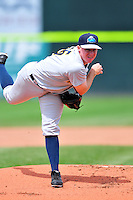 Trenton Thunder starting pitcher Eric Ruth #16 during a game versus the Portland Sea Dogs at Hadlock Field in Portland, Maine on May 17, 2014. (Ken Babbitt/Four Seam Images)