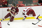 Carl Sneep (BC - 7), Alex Biega (Harvard - 3) - The Boston College Eagles defeated the Harvard University Crimson 3-2 on Wednesday, December 9, 2009, at Bright Hockey Center in Cambridge, Massachusetts.