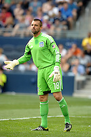 San Jose goalkeeper Jon Busch... Sporting Kansas City defetaed San Jose Earthquakes 2-1 at LIVESTRONG Sporting Park, Kansas City, Kansas.