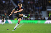 Owen Farrell of England takes a conversion attempt during the Old Mutual Wealth Series match between England and Fiji at Twickenham Stadium on Saturday 19th November 2016 (Photo by Rob Munro)