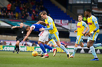 Sean Raggett of Rotherham United concedes a would trying to arrest the progress of Collin Quaner of Ipswich Town during Ipswich Town vs Rotherham United, Sky Bet EFL Championship Football at Portman Road on 12th January 2019