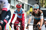 Romain Bardet (FRA) AG2R La Mondiale crosses the finish line at the end of the 105th edition of Li&egrave;ge-Bastogne-Li&egrave;ge 2019, La Doyenne, running 256km from Liege to Liege, Belgium. 28th April 2019<br /> Picture: ASO/Gautier Demouveaux | Cyclefile<br /> All photos usage must carry mandatory copyright credit (&copy; Cyclefile | ASO/Gautier Demouveaux)