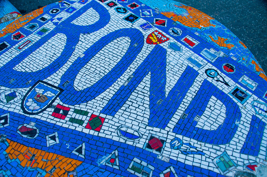 Surfing Mosaic, Bondi Beach, Sydney,, New South Wales, Australia, US