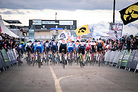 race start<br /> <br /> Men's U23 race<br /> UCI 2020 Cyclocross World Championships<br /> Dübendorf / Switzerland<br /> <br /> ©kramon