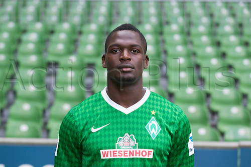 29.07.2013. Bremen, Germany.  The picture shows German Soccer Bundesliga club SV Werder Bremen's Assani Lukimyaduring the official photocall for the season 2013-14 in Bremen.