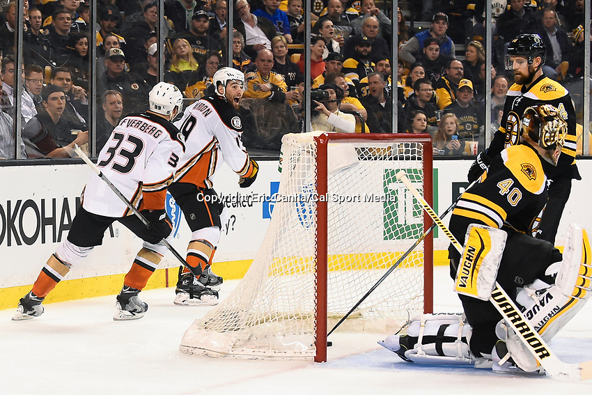 March 26, 2015 - Boston, Massachusetts, U.S. -  in game action during the NHL match between the Anaheim Ducks and the Boston Bruins held at TD Garden in Boston Massachusetts. Eric Canha/CSM