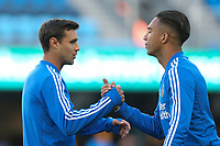 San Jose, CA - Saturday May 05, 2018: Chris Wondolowski, Danny Hoesen during a Major League Soccer (MLS) match between the San Jose Earthquakes and the Portland Timbers at Avaya Stadium.