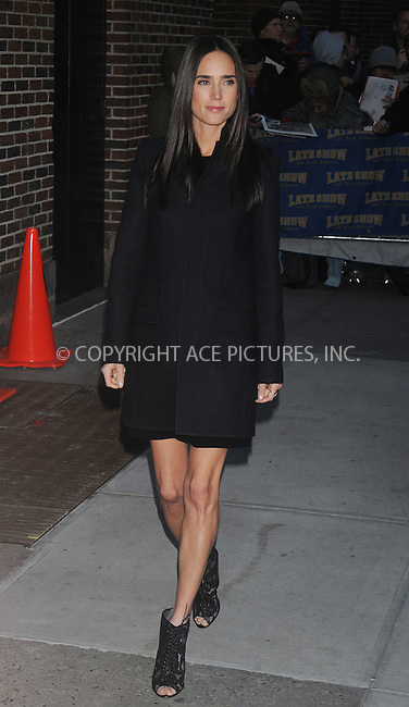 WWW.ACEPIXS.COM . . . . . ....December 8 2008, New York City....Actress Jennifer Connelly at the 'Late Show with David Letterman' at the Ed Sullivan Theater on December 8, 2008 in New York City.....Please byline: KRISTIN CALLAHAN - ACEPIXS.COM.. . . . . . ..Ace Pictures, Inc:  ..(646) 769 0430..e-mail: info@acepixs.com..web: http://www.acepixs.com