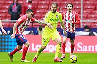 Atletico de Madrid's Angel Correa (l) and Sime Vrsaljko (r) and Getafe CF's Sergio Mora during La Liga match. January 6,2018. (ALTERPHOTOS/Acero) /NortePhoto.com NORTEPHOTOMEXICO