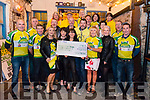 54321 Challenge presenting a cheque for the total amount of €42456 to Sera Husky Animal Rescue, Skelligs Stars and Grow Ireland in the Reidy's Bar, Killarney last Saturday night.