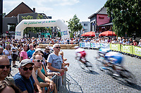 local laps: Peloton passing through the centre of Heist-op-den-Berg <br /> Heistse Pijl 2019<br /> One Day Race: Turnhout > Heist-op-den-Berg 194km (UCI 1.1)<br /> ©kramon