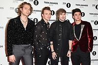 LONDON, UK. October 21, 2018: 5 Seconds of Summer - Luke Hemmings, Calum Hood, Ashton Irwin & Michael Clifford - at tthe BBC Radio 1 Teen Awards 2018 at Wembley Stadium, London.<br /> Picture: Steve Vas/Featureflash