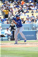 07/09/17 Los Angeles, CA : Kansas City Royals third baseman Ramon Torres #46 during an MLB game between the Los Angeles Dodgers and the Kansas City Royals played at Dodger Stadium.
