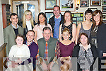 The great Kerry footballer Bernie Breen celebrated her 30th birthday with her family team-mates and friends in Corkery's bar, Killarney on Saturday night front row l-r:Kadie McCannon, Mark Breen, Dan Breen, Bernie Breen and Rachel Breen. Back row: Timmy O'Connell, Emma Keating, Mary Keating, Enda Walsh, Diane Breen, Therese Breen-Regan and Lisa Breen..